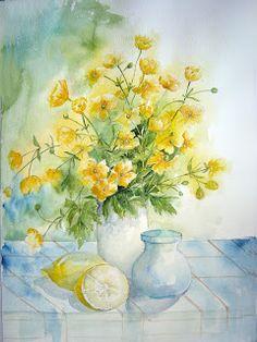 Watercolour Florals - Yvonne Harry`