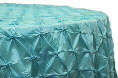 "120"" Pinchwheel Round Tablecloth - Turquoise"