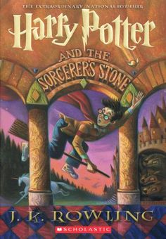 The first US version of Harry Potter and the Sorcerer's Stone —book cover art