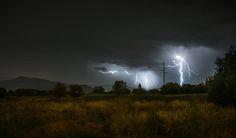 Night, Pyjamas, Heavy Rain and Lightning by Ole Petter Rust on 500px