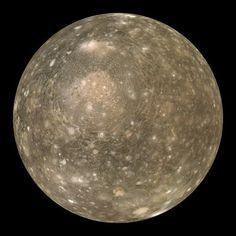 Callisto, fourth moon of Jupiter.