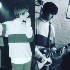 """@dreamerbydesign2 on Instagram: """"Same sweater 😉 . . #brothers #thegallaghers #oasis #liamgallagher #noelgallagher #legend #icon #rkid #thechief #britpop"""""""