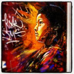 C215 - Brick Lane, London (25 August 2013) #c215 #streetart #london 21 July, August 2013, Brick Lane, Street Art, London, Painting, Instagram, Brick Road, Painting Art