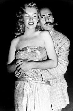 Marilyn Monroe & Groucho Marx.