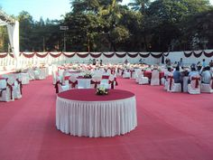 Venue construction and wedding venue decoration at Parsi Gymkhana Dadar is by Jess Ideas. Banquets and wedding decor by Jess Ideas with intelligent lighting. Wedding Stage Decorations, Table Decorations, Indian Reception, Wedding Designs, Wedding Ideas, Event Management, Receptions, Event Planning, Tent