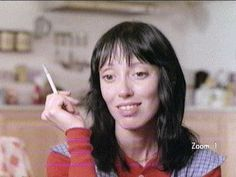 Shelly Duvall the essence of clueless smoking in The Shining