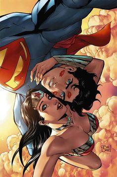 Superman and Wonder woman selfie