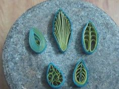 how to make quilling leaves (5 different types) - YouTube