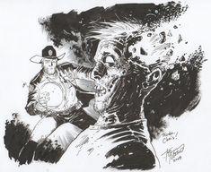 Tony Moore illustration, Walking Dead
