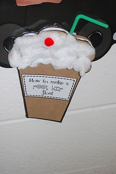 I tweaked this a bit to go with our root beer float experiments at the end of the matter unit. Maybe we can make a back piece with a reading or writing game in it Writing Lessons, Writing Resources, Writing Activities, Writing Ideas, Science Activities, Writing Prompts, Art Lessons, Kindergarten Writing, Teaching Writing