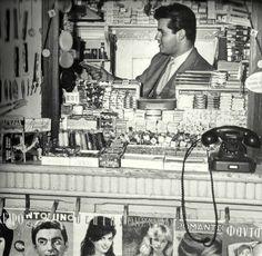 Magazine kiosk. Athens, 1960