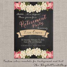 Surprise Retirement party invite rustic by DigitalPrintShop, $9.99
