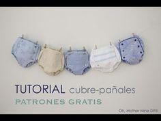 Tutorial de cubre pañales o braguitas de bebé (patrones gratis) | Manualidades
