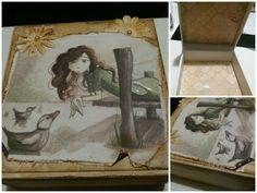 Caja joyería alterada Arte & Scrap