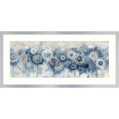 Catherine Stephenson - Blue Dandelion Embellished Framed Print, 50 x Canvas Frame, Canvas Art, Dandelion Art, Art Corner, Blue Painting, Handmade Frames, Stained Glass Designs, Arte Floral, Blue Art
