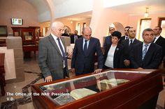 Artsakh president Bako Sahakian tours the soon to be opened Matenadaran