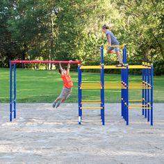 Gym Monkey Bars Outdoor Toys Kids Playground Hanging Bridge Playset Metal Bars