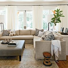 After: Neutral Update Den - Our Best Before and After Home Renovations - Southern Living