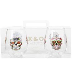 Product Not Found Holiday Drinkware, Wine Glass Set, Stemless Wine Glasses, Sugar Skulls, Image, Candy Skulls, Wine Goblets, Sugar Skull, Sugar Skull Face