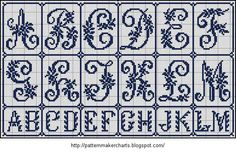 Free Easy Cross, Pattern Maker, PCStitch Charts + Free Historic Old Pattern Books: Sajou No 171