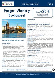 CENTROEUROPA: Praga, Viena y Budapest en tren. 7 días, desde 625 € + tasas - http://zocotours.com/centroeuropa-praga-viena-y-budapest-en-tren-7-dias-desde-625-e-tasas/