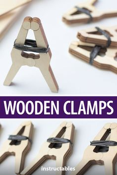 Make a set of wooden clamps out of scrap wood, then use those clamps to make more clamps. Carpentry Tools, Woodworking Joints, Woodworking Furniture, Woodworking Crafts, Woodworking Plans, Woodworking Essentials, Woodworking Organization, Carpentry Projects, Woodworking Quotes