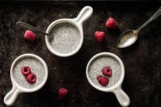 Vanilla Chia Pudding. Super simple - just let chia seeds soak in milk overnight and mix in vanilla bean paste (or extract) and some pure maple syrup for added sweetness.