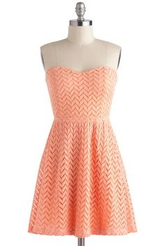 ModCloth Little Bow Peach Dress, $47.99, available at ModCloth. #refinery29 http://www.refinery29.com/46997#slide-9