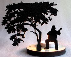 Playing Guitar Tea Light Candle Holder by Plasticsmith on Etsy, $16.00