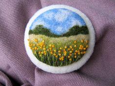 Весна на Sees All Colors: Шерстяные брошки Ольги Любинецкой