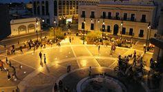 Plaza Bicentenario / Bicentennial plaza at Hermosillo,Sonora,Mexico.