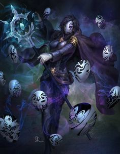 Commission - The Witch of a Thousand Faces by SKtneh.deviantart.com on @DeviantArt