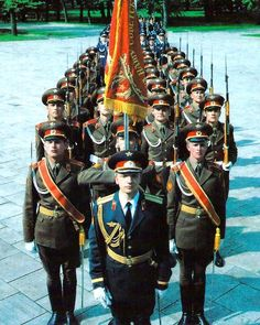 Soviet Army honor guard company / рота почетного караула