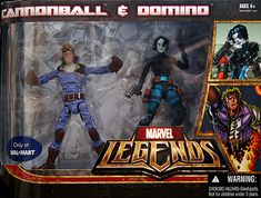 Marvel Legends Cannonball & Domino Twin Pack Domino  // Pinned by: Marvelicious Toys - The Marvel Universe Toy & Collectibles Podcast [ m a r v e l i c i o u s t o y s . c o m ]