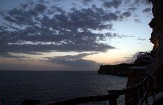 Cova d'en Xoroi Night Club Minorque Blog Voyage, Night Club, Paradis, Celestial, Sunset, Beach, Water, Outdoor, Tourism
