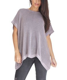 Another great find on #zulily! Taupe Gray Hamptons Lurex Dolman Top by OhConcept Collection, $15 !!  #zulilyfinds