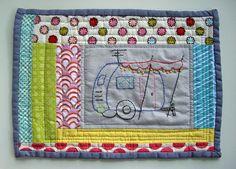 pink camper mug rug by color and pattern, via Flickr