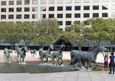 Mustangs - by Robert Glen Most Fascinating Public Sculptures Photos | Architectural Digest