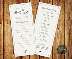 Hey, I found this really awesome Etsy listing at https://www.etsy.com/listing/229105306/wedding-program-elegant-wedding-program