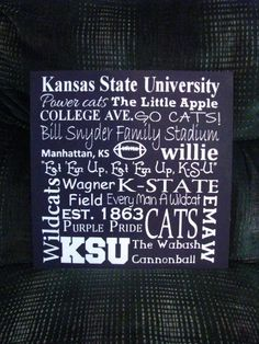 Kansas State University Subway Art Sign