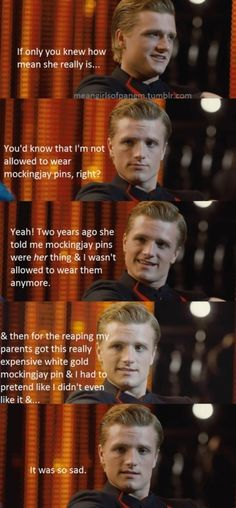 Peeta Mellark has cracked. #hungergames #meangirls