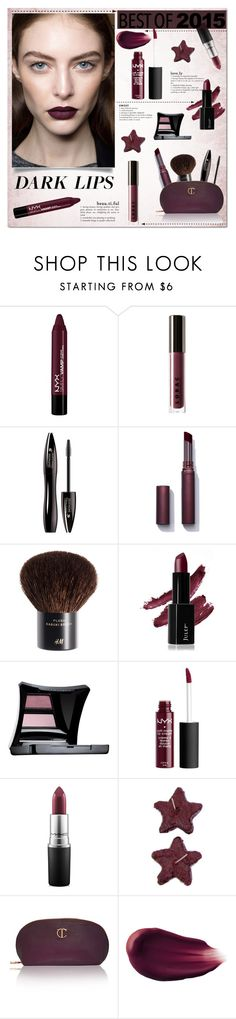 """Dark lips - best of 2015"" by bogira ❤ liked on Polyvore featuring beauty, NYX, LORAC, Lancôme, Laura Mercier, H&M, Illamasqua, MAC Cosmetics and Hourglass Cosmetics"