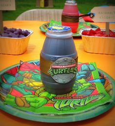 barnes yard: Porter's ninja turtle party