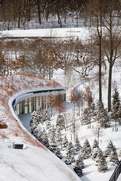 Sometimes the more you look at a project, the more you realize just how awesome it is.  Brooklyn Botanic Garden Visitor Center by Weiss/Manfredi