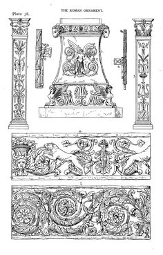 Speltz, Alexander / Styles of ornament: exhibited in designs, and arranged in historical order, with descriptive text. ([1906])  The Roman ornament