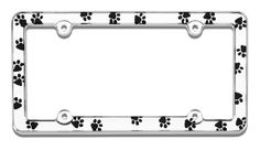 LIFE IS GOOD RED HIBISCUS Metal License Plate Frame Tag Holder Four Holes