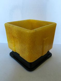 Art Deco Graniver cactuspot designed by A.D. Copier in 1929. Manufactured by Royal Glassfactory Leerdam.