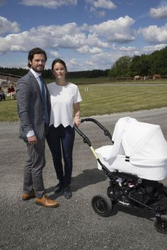 Prince Carl Philip and Princess Sofia of Sweden along with their baby son Prince Alexander attend Stenhammar Day, an annual event organised by the Swedish University of Agriculture and the Stenhammar Estate on June 13, 2016.