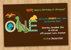 Dinosaur Birthday Invitation  Custom Printable by printablecandee, $10.00
