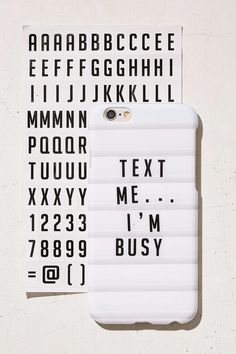 DIY Letterboard iPhone Case - White One Size at Urban Outfitters The Neighbor, Coque Iphone 6, Iphone 6 Cases, Phone Case, Iphone Accessories, White Elephant Gifts, Things To Know, Cleaning Wipes, Letter Board